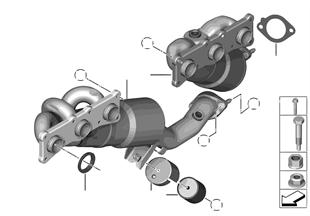 排氣歧管 帶廢氣觸媒轉換器