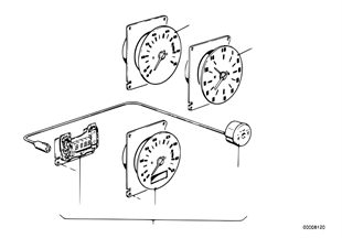 Tachometer/clock