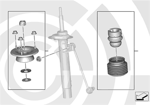 Repair kits for shock absorbers, rear