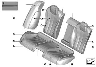 Individual Bezug Leder Sitz hinten