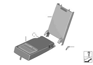 Κάθισμα πίσω κεντρικό υποβραχιόνιο