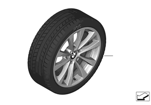 Winter wheel & tire set V-Spoke 395