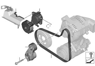 Entraînement pompe à eau / Alternateur