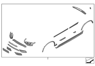 Reequip., conjunto aerodinamico M