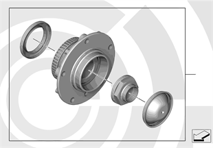 Kit, wheel bearing, front / Value Line