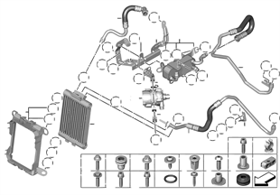 Motor yağı soğ/soğ.sıv.pomp., elektr.