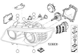 Composants pour projecteur Xenon/ALC