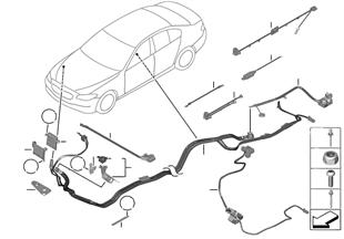 Kabel akumulátoru/kostřicí kabel