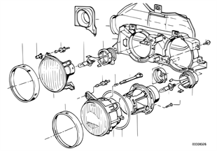 Single parts f ellipsoidal headlight