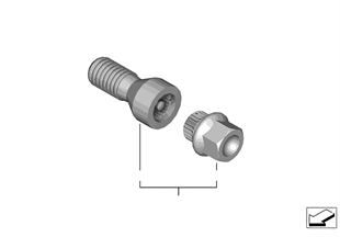 Wheel bolt lock with adaptor