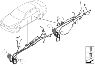 Vehicle electrical system on deutsch connector wiring harness