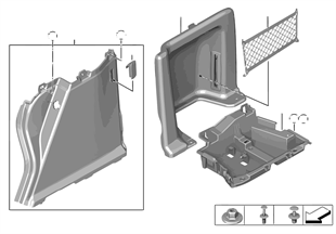 Verkleidung Gepäckraum rechts