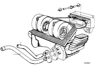 Tubo flex.de agua admision/escape