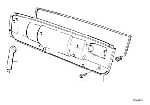 Heater closing panel