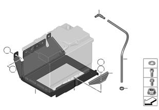Fixat. et pièces accolées p.2e batterie