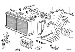 Radiador da chaufagem do ar condicionado