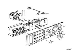 Painel comando chaufagem c/microfiltro