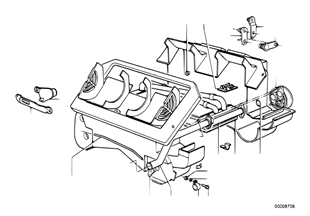 Heater radiator/mounting parts