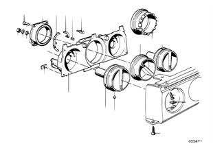 Ovládání topení-otočné knoflíky