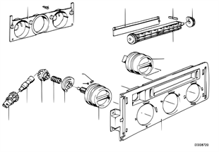 Painel comando chaufagem-botões/selector
