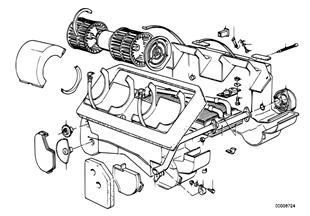 Radiador da chaufagem/peças adicionais