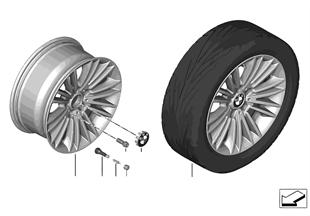 BMW 경합금 휠, 멀티 스포크 456 - 17''