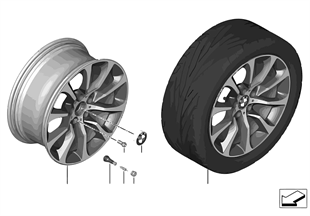 BMW LM ホイール Turbinenstyling 453-19''
