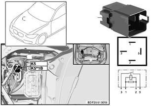 Przekaźnik went. elektr. silnika K5