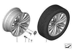 """BMW LM Rad Vielspeiche 458 — 19"""""""