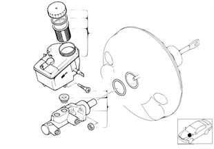 Brake master cylinder DSC, 4-wheel