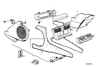 Klimatizace-boční díl/kryt