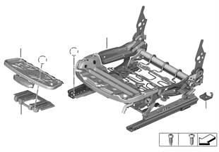Seat, front, seat frame