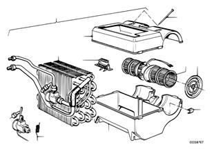 Klimatizace jednotlivé díly