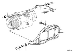 Kompresor klimatizace montážní díly