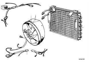 Kondenzátor klimatizace/pomocný ventil.