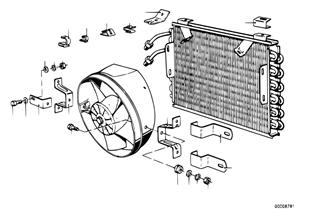 Condensador aire acond. y piezas montaje