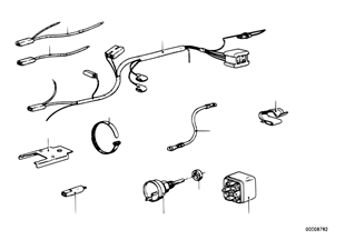 Klimatizace-relé/spínač/kabelová sada