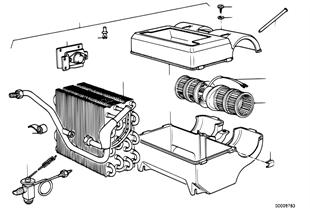 Aparelho AC — peças individ.