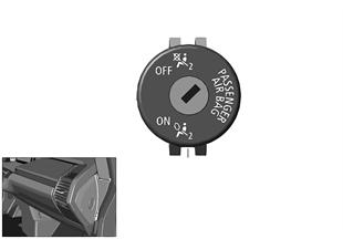 Schalter Deaktivierung Beifahrerairbag