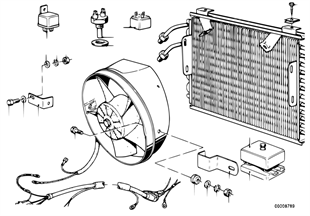 Condensador AC e peças de montagem