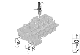 실린더 헤드 - 전기식 설치부품