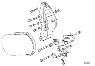 Pçs mont. compressor AC/transm. correia