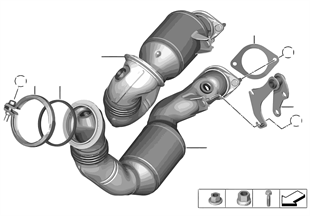 Katalizator przy silniku