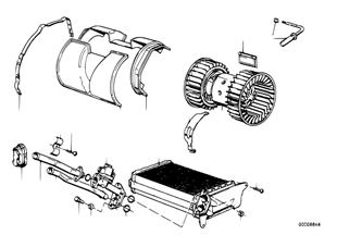 Heater radiator/blower