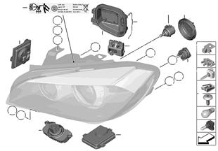 Onderdelen vir kolamp Xenon/ALC