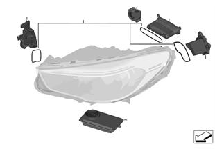 Elektronica-componenten koplamp LED