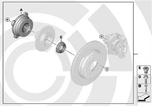Repair kit for wheel bearing, rear