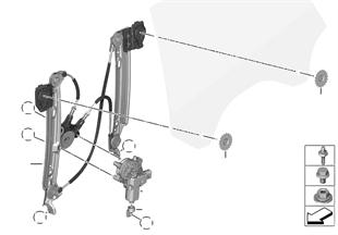 Türfenstermechanismus hinten