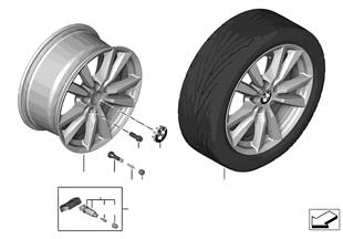 BMW 輕質鋁合金輪輞 雙輪輻 446 - 18''