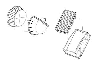 Mikrofiltr/uzavírací víčko mikrofiltru
